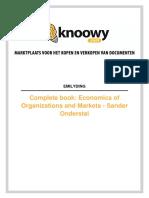 Economie van Markten en Organisatie