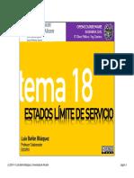 Tema 18 - Estados Límite de Servicio