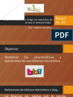 Bloque No5- Bitácoras Electrónicas
