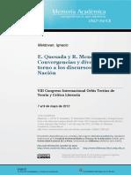 Ignacio Maldovan, Quesada y Menéndez Pidal, Convergencias y Divergencias en Torno a Los Discursos Lengua-nación