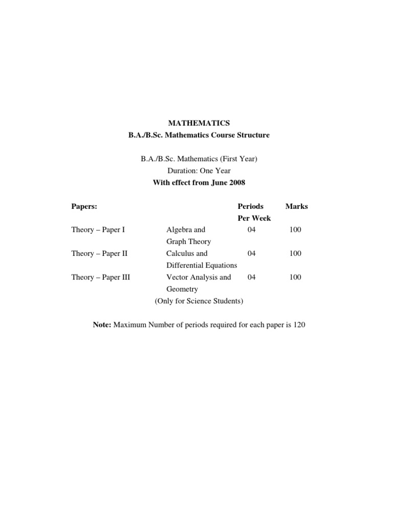 B sc  Mathematics | Group (Mathematics) | Equations