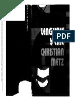 METZ_lenguaje y Cine__cine y Escritura_conclusiones