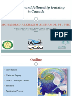 Residency Training in Canada by Dr. Mohammad AlGhamdi 2016