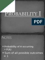 Probability I