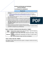 Reposición de Certificado de Propiedad SAT
