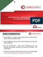 Programacion y Ampliacion de Calendario Abril 2015 El Dorado