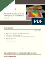 02. Análisis de Transiente de Presion CLASE ING.MSC. PEDRO ADRIAN