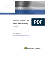 Microsoft Dynamics AX Lean Accounting