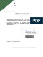Certificado Superintendencia pensiones