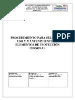 P. Para La Selección Uso y Mantenimiento de Los EPP
