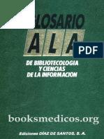 Glosario ALA de Bibliotecologia y Ciencias de La Informacion