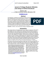 An Assessment of College Students' Attitudes Towards Using an Online E-textbook