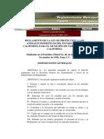 Reglamento de La Ley de Proteccion de Los Animales Domesticos Tijuana
