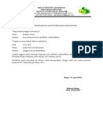 Contoh Surat Keterangan Aktif Organisasi