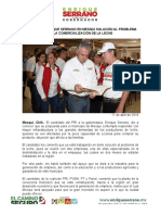2016-04-11 SOLICITAN A ENRIQUE SERRANO EN MEOQUI SOLUCIÓN AL PROBLEMA DE LA COMERCIALIZACIÓN DE LA LECHE