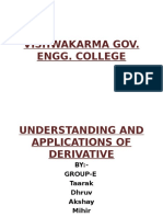Understanding and Applications of Derivative
