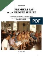 Formation d'Un Petit Groupe d'Étude Spirite Médium Marco