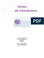 Pro Life Campaign - Abortion & Ireland - Frequently Asked Questions