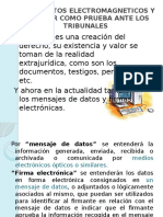 Valor Probatorio Del Documento Electronmagnetico