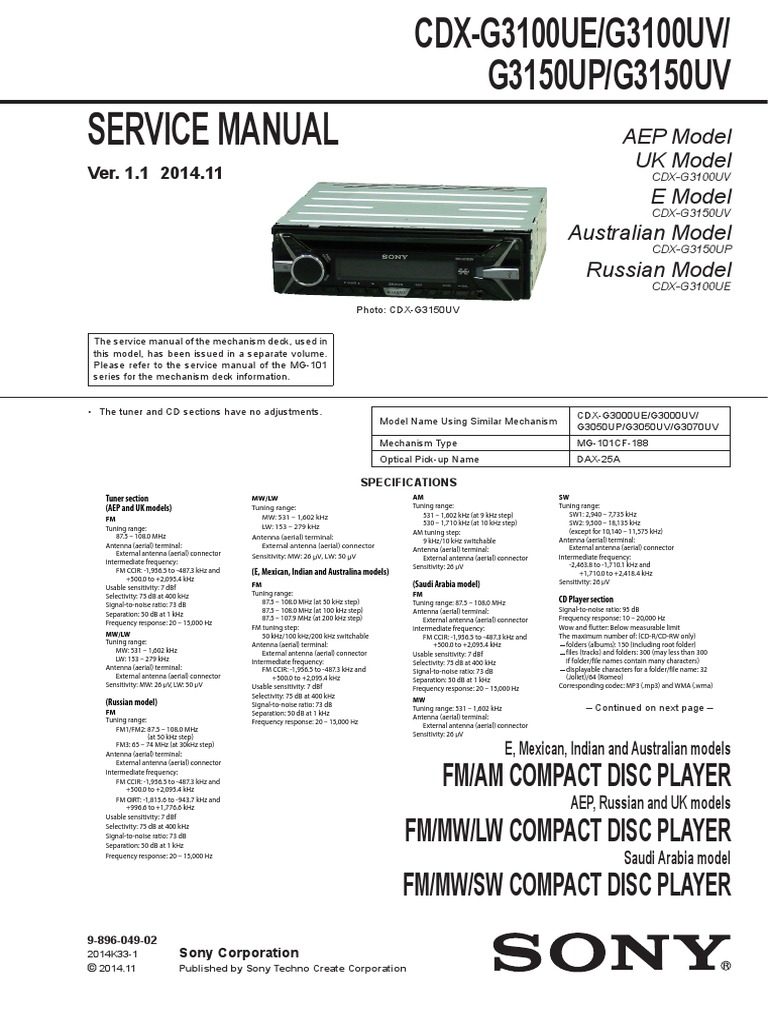 Sony Ccd Wiring Diagram Online Car Colors Stereo Cdx C410 Blogs