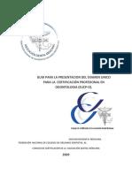 Guia Para El Examen Unico Para La Certificacion Profesional en Odontologia EUC-ODON