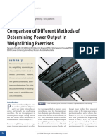 Comparison of Different Methods of Determining Power Output in Weightlifting Exercises