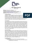 Art History II Course Syllabus