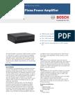 Bosch Plena Amplifier Datasheet