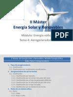 II Máster Energía Solar y Renovables. Módulo- Energía Eólica Tema 4- Aerogeneradores