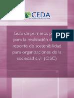 Guía de Primeros Pasos Para La Realización de Un Reporte de Sostenibilidad Para Organizaciones de La Sociedad Civil OSC