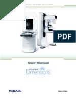 Mammography Unit Selenia Dimensions (3D) - User Manual