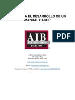 Blank Guia Para El Desarrollo De Un Manual HACCP 10.26.2012