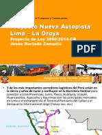 Nueva Autopista Lima - La Oroya (PL 3860)