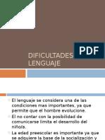 Dificultades de Lenguaje