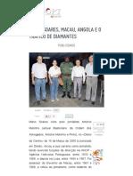 Mário Soares, Macau, Angola e o Tráfico de Diamantes - LUSOPT