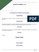Actualización Del Codigo Penal Decreto 17-73