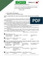Subiect Si Barem LimbaRomana EtapaII ClasaIII 10-11