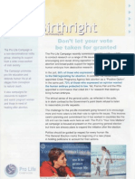Pro Life Campaign Ireland Birthright Newsletter April 2007