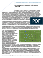 La geometria en el futbol. Triangulos.