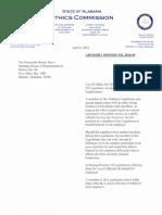 Alabama Ethics Commission ruling on Davix