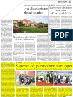 2016 04 12 - Il Quotidiano Del Sud - Startup Super School