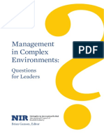 Management in Complex Environments - Questions for Leaders - Brian Ganson