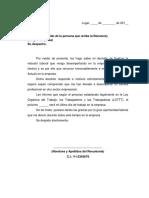 Modelo Carta Renuncia Venezuela QuickZone