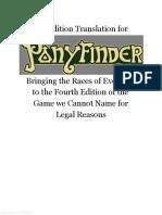 Ponyfinder - 4th Edition Translation
