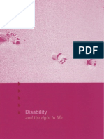 Disability - And the Right to Life