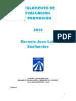 Reglamento de Evaluación 2016