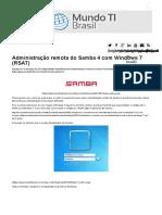 Administração Remota Do Samba 4 Com Windows 7 (RSAT) _ Mundo TI Brasil