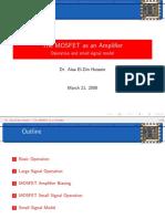 The MOSFET as an Amplifier
