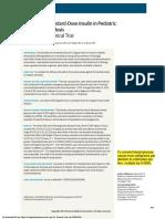 2014 Low-dose vs Standard-dose Insulin in Pediatric Diabetic Ketoacidosis, A Randomized Clinical Trial