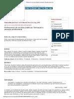 Professores de Escolas Públicas_ Formação e Atuação Profissional